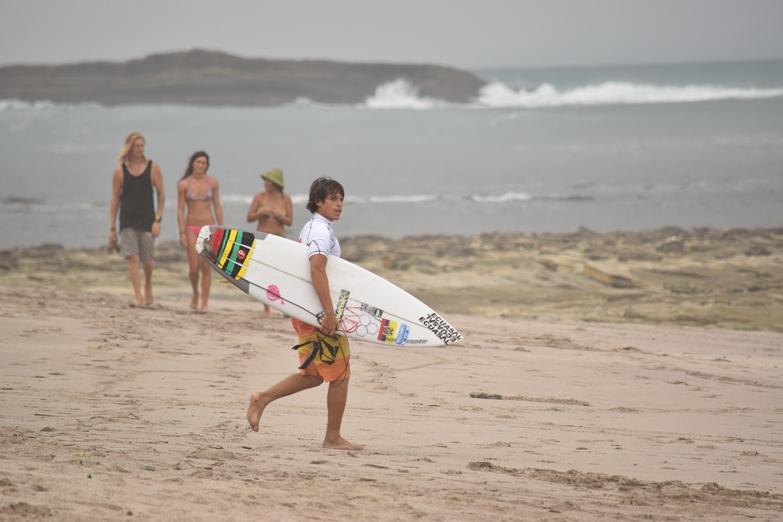 n esta playa se ha realizado el campeonato mundial de surf.