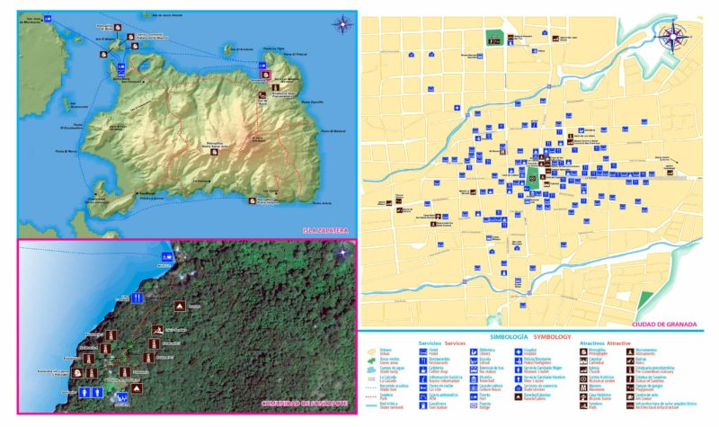 Mapa-Petroglifos-Isla Zapatera