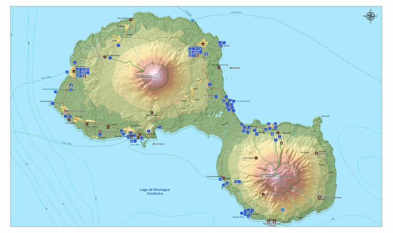 Mapa-Petroglifos-Ometepe