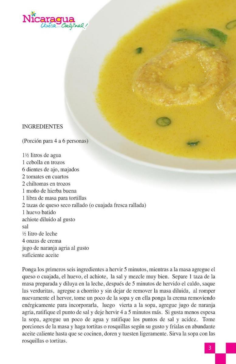 vReceta Sopa de queso o cuajada