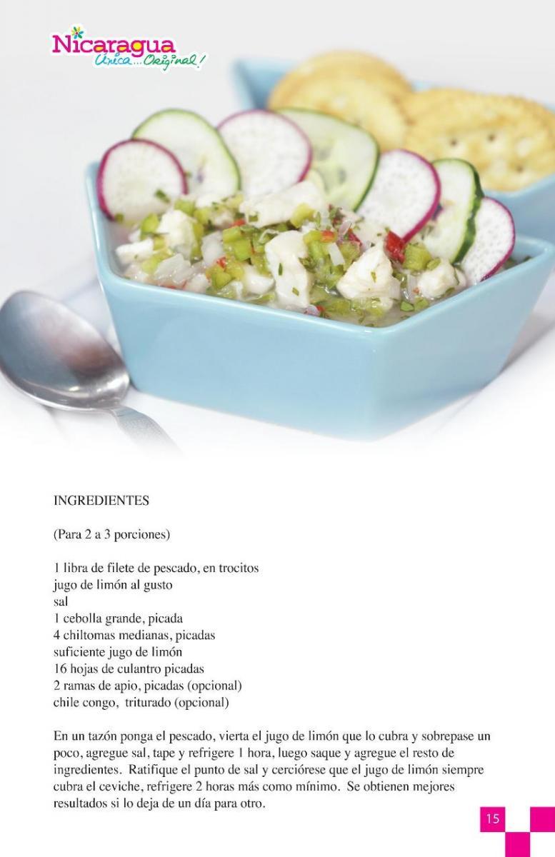Ingredientes ceviche de pescado