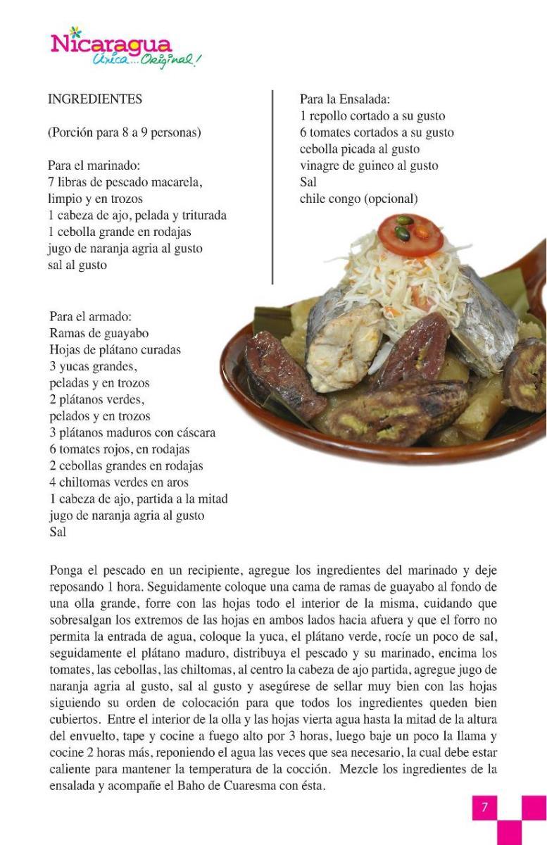 Comidas de cuaresma visita nicaragua for Manual de procedimientos de alimentos y bebidas de un hotel